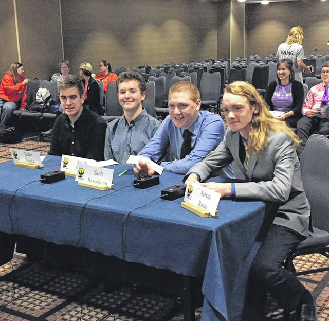 Members of the Pettisville quiz team at the national tournament.