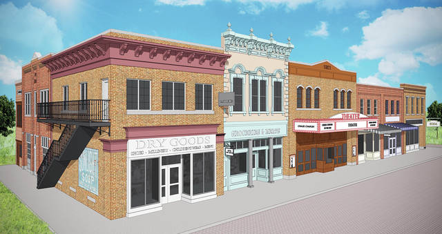 Sauder Village in Archbold provided an artist's rendering of the 1920s Main Street Community currently under construction.