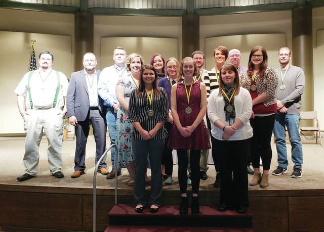 Four Fulton County residents were among 17 people to receive the Award of Merit from Northwest State Community College in Archbold.