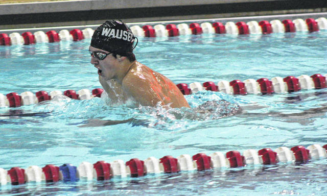 Caden Case of Wauseon placed second in the boys 100-yard breaststroke Tuesday in a home tri-meet. He finished with a time of 1:11.37.