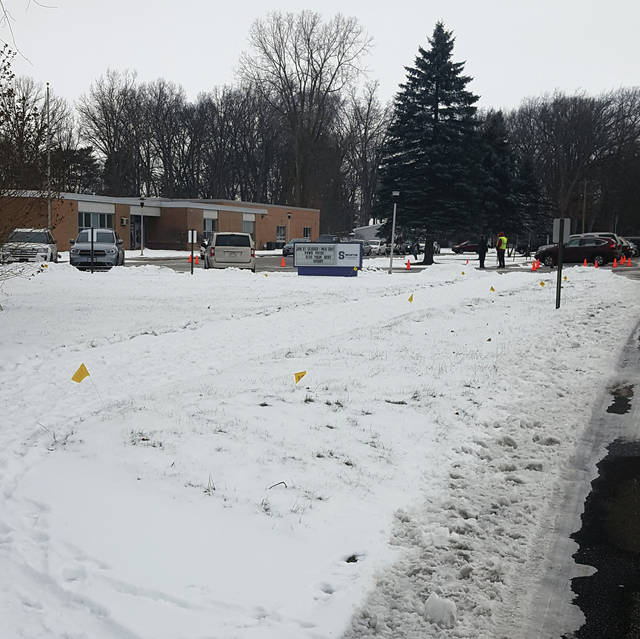 After a weekend snow, the sidewalk on Crestwood Drive in Swanton remained snowcovered on Wednesday morning.