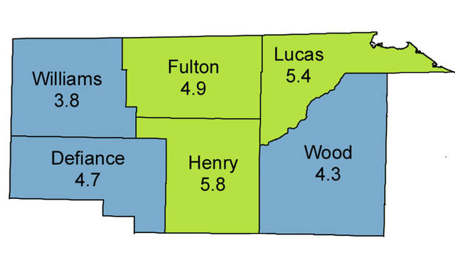 Every county in the state saw an increase in the unemployment rate in December.