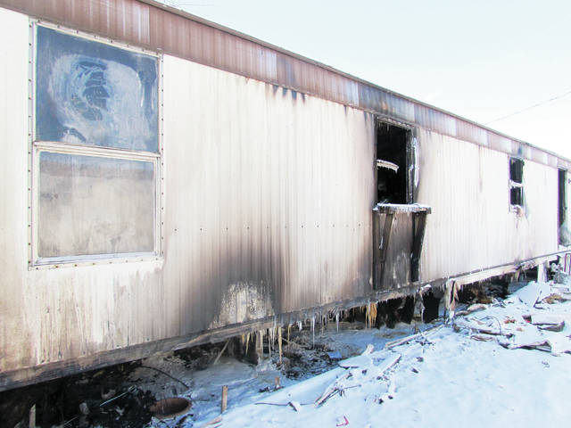 A residence in the Green Acres Mobile Home Park in Delta was gutted by fire during frigid weather last week.