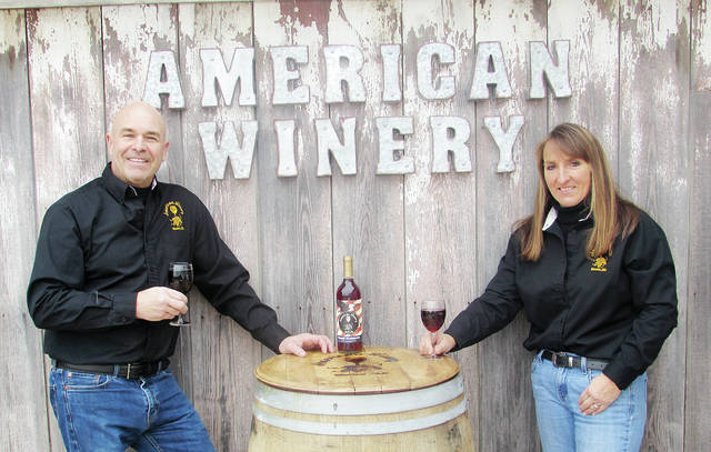 Tom Shank and Connie Simon will greet guests at the grand opening of American Winery on Friday.