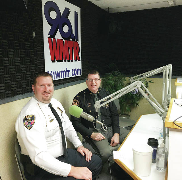 Delta Police Chief Nathan Hartsock and Fulton County Sheriff Roy Miller took the mic as guest DJs for last year's Heart Radiothon.