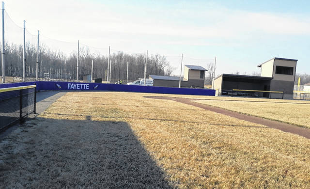 Fayette Local Schools has a new field for their varsity baseball team as part of its new spring sports complex.