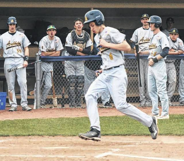 Archbold's Jeron Williams trots home for a run during a baseball game last spring. Williams is back for his senior season.