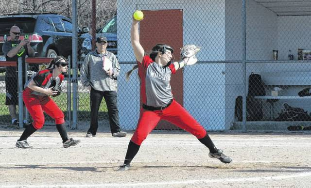 Juli Spadafore of Wauseon pitching in a game last season. She was tabbed as the NWOAL Player of the Year in 2018.