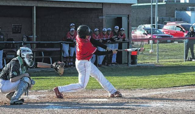 Joey Shema of Wauseon knocks in a run during a game last season. He returns for the Indians after making second team All-NWOAL in 2018.
