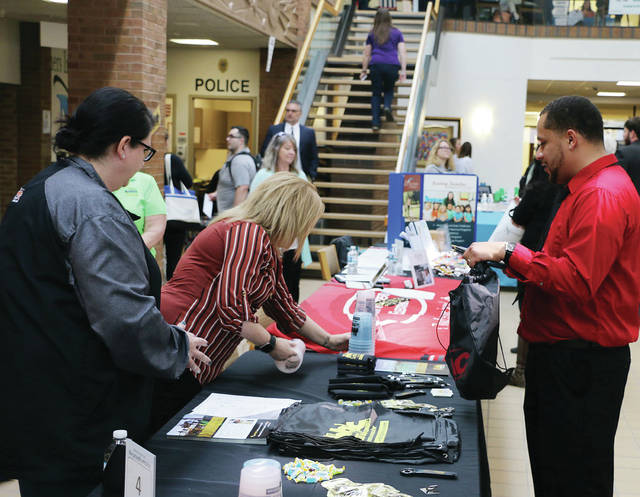 Northwest State Community College hosted its annual Job and Career Fair last Tuesday. An estimated 500-plus job seekers, including area high school seniors, met with over 100 area employers to discuss seasonal, temporary, and full-time openings.