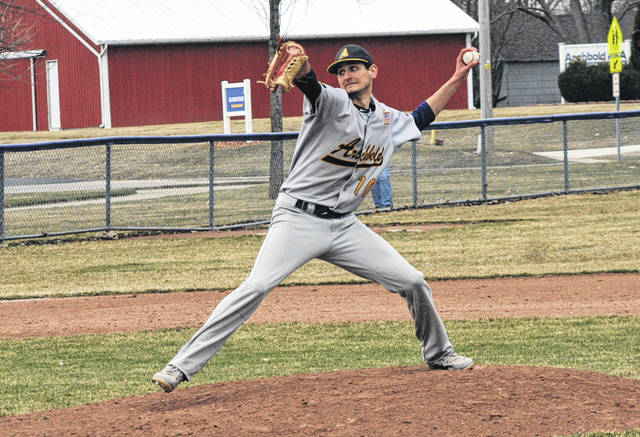 Rigo Ramos takes the hill for Archbold Tuesday versus Napoleon. In his six innings of work, he struck out 13 batters while surrendering just one hit and two walks.
