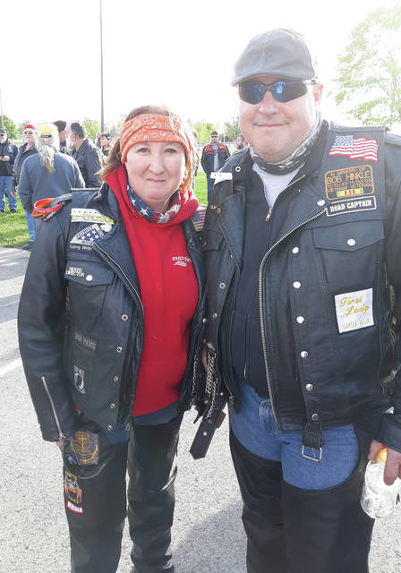 Mindy and Rob Hinkle came from Loudonville, Ohio to participate in the motorcycle escort.
