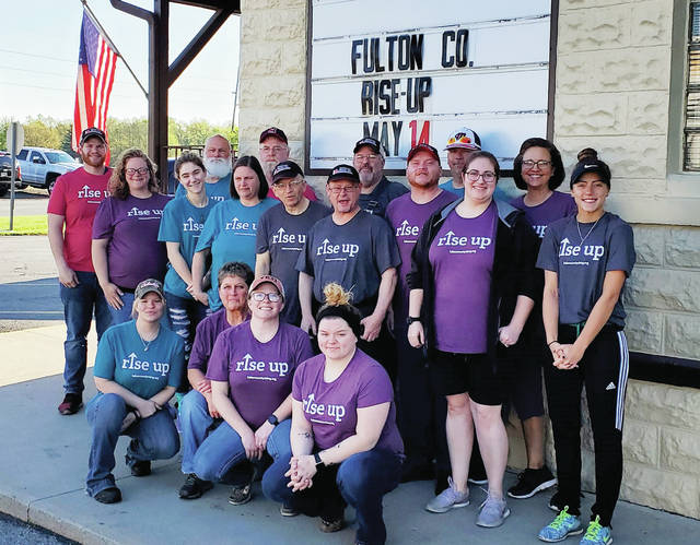 The employees of Pettisville Meats were among those who participated in Fulton County Rising Day on May 14.