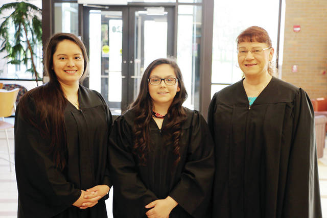 "<p class=""n_ 37 v1"">Three Fulton County residents completing Northwest State Community College's phlebotomy technician certificate program were recently recognized during spring commencement. Students earning the phlebotomy technician certificate may choose to continue their education for an associate degree in medical assisting. Pictured, from left, are Aimeth Rosillo Babadilla of Wauseon, Madison Zimmerman of Delta, and Deborah Gillen of Wauseon."