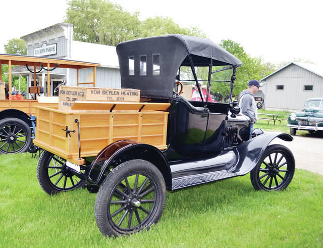Antique cars will be displayed at Sauder Village in Archbold on May 18.