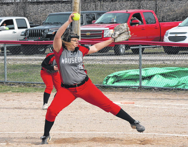 Wauseon's Juli Spadafore pitches during a game this season. The Indians recently received the second seed in the Division II district that will be held at the University of Northwest Ohio in Lima. They have a bye in the first round, where they will host the winner of Defiance and Kenton Friday, May 10 for the sectional title.