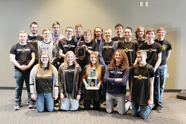 The Pettisville High School quiz team following its victory at the NBAL tournament. Not all members were present.