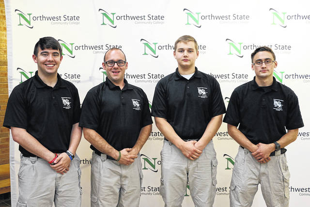 Fulton County graduates of the Northwest State Community College Law Enforcement Academy are, from left: Nick Jones (Delta), Bradley Merillat (Archbold), Grant Schaffner (Fayette), Caleb Hensley (Wauseon).