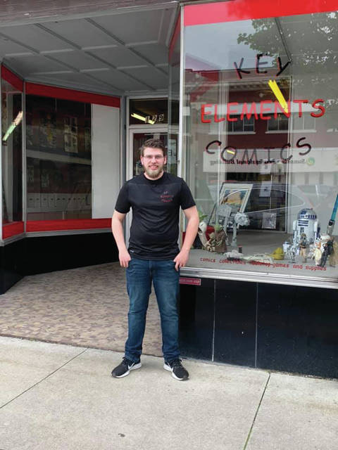 Bret Wisda opened Key Elements Comics June 18 at 129 S. Fulton St. in Wauseon.
