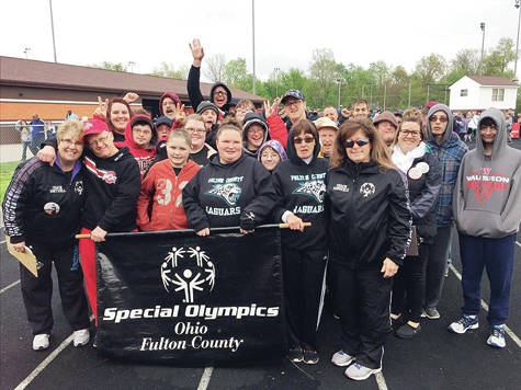 Members of the Fulton County Jaquars Special Olympics team.