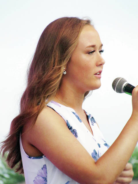 Candidate Haleigh Wurst offered a song during the talent competition.