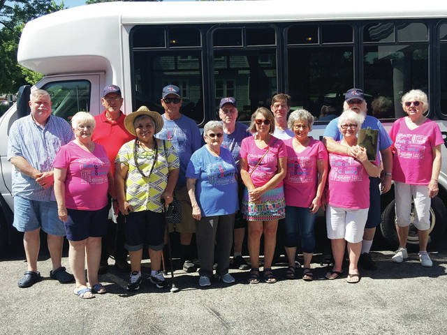 A contingent from the Fulton County Senior Center placed third in the Delta Chicken Festival parade last weekend. Several county seniors rode the bus and interacted with the crowd during the event.