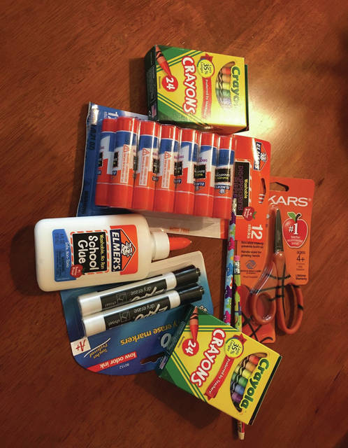 School supplies are among the items included in the sales tax holiday.