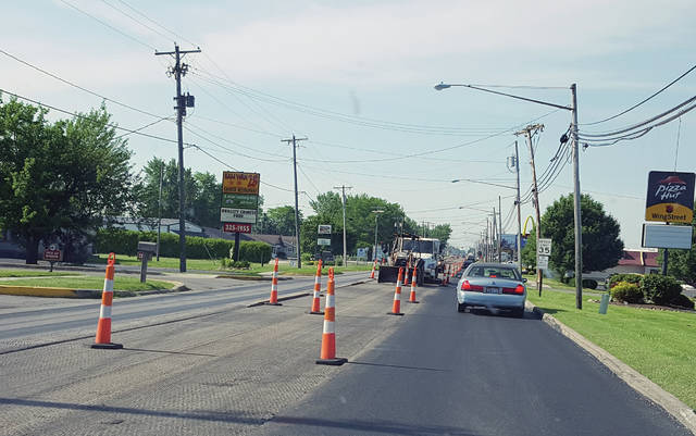 With recent drier weather, road construction projects have begun to kick into high gear. Above, work continues on Shoop Avenue in Wauseon. That project is slated to last through October and includes lane restrictions. Beginning on Monday was a closure on U.S. 20 between County Roads 5 and 6 for culvert replacement. That is scheduled through July 31. Also, from July 15 to mid-October, U.S. 20A will be closed between County Road 16 and County Road 20 for culvert replacement . Also, as of Tuesday morning, Elm Street is closed between Fulton Street and Shoop Avenue in Wauseon.