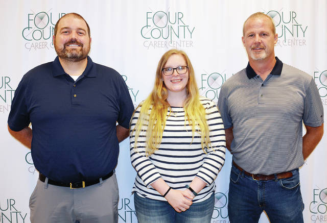 Four County Career Center in Archbold has welcomed three new staff members for the 2019-20 school year. Josh Montgomery, left, is the new Career Based Intervention instructor; Taryn Conklin, center, is a new English instructor; Dave DeLano, right, is the new Dean of Students. School began Wednesday for juniors and new students, and Thursday for seniors.