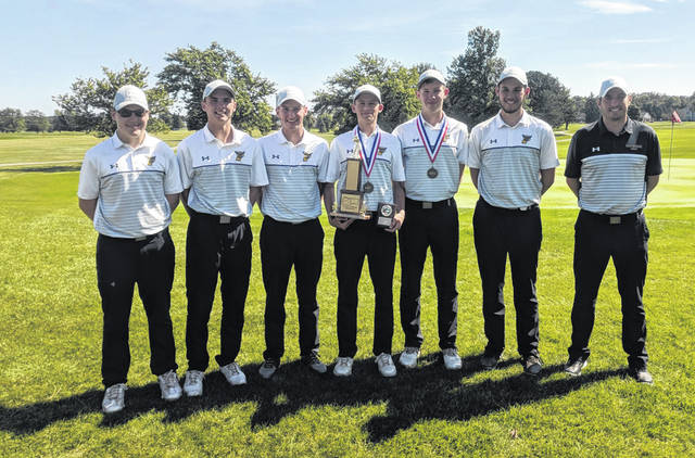 The Pettisville golf team claimed the program's first ever Buckeye Border Conference title Sept. 19 at Ironwood in Wauseon. They finished with a score of 313, which happened to be a school record.