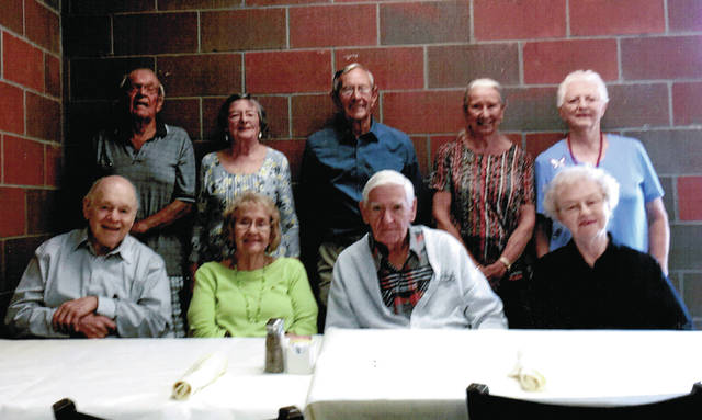 The Wauseon High School Class of 1951 gathered Sept. 5 at Sullivans Restaurant. Classmates, spouses and escorts enjoyed the warmth of fellowship, memories and laughter of past times and current events. Class members, from left, seated: Ed Roth, Kay (Drummer) Falor, Bob Wiler, Phyllis (Fink) Garmen, and standing: Bob Leitner, Rita (Struble) Nord, Larry Nofziger, Helen (Trudel) Figy, and Majorie (Burkholder) Olmstead.