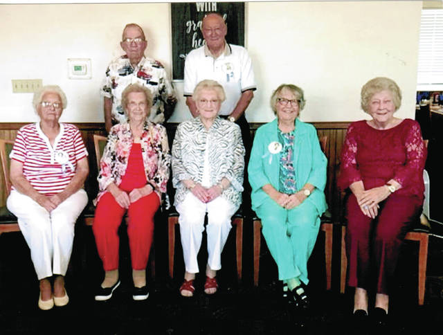 The Wauseon High School Class of 1946 reunion was held Sept. 13 at the Blue Ribbon Diner on State Highway 108. Those attending to reminisce included - front from left - Hazel Pike Figy, Betty Blackmore Trigg, Joan Hammon Konwinski, Ruth Mahon Hutchinson, Leta Lewis Marzolf - back, from left - Lee Graffice and Jim Figy.