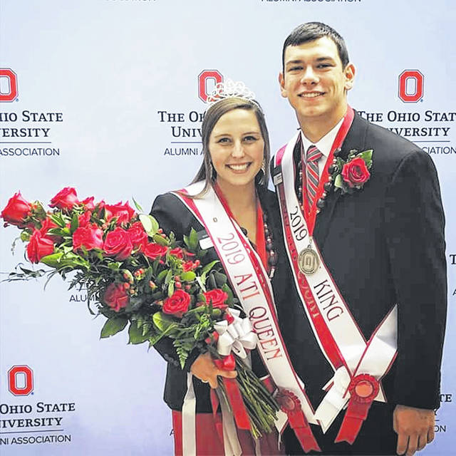 Hannah Herr of Metamora has been named Ohio State ATI's 2019 Homecoming Queen. A sophomore majoring in Agribusiness, Herr participates in the Student Activities Council, Hoof-N-Hide, 4-H, Stick and Ink, and is Community Council President. She said to be a Buckeye is a title that comes with pride, honor, and responsibility. The king, Sam Shilling, is a West Unity native.
