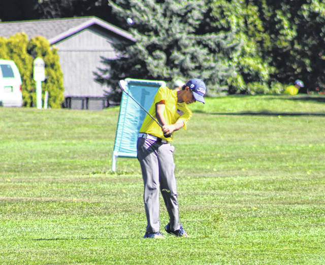 Archbold's Luke Rosebrook with a shot at the Division III sectional tournament. Rosebrook was named first team All-Northwest Ohio Athletic League.