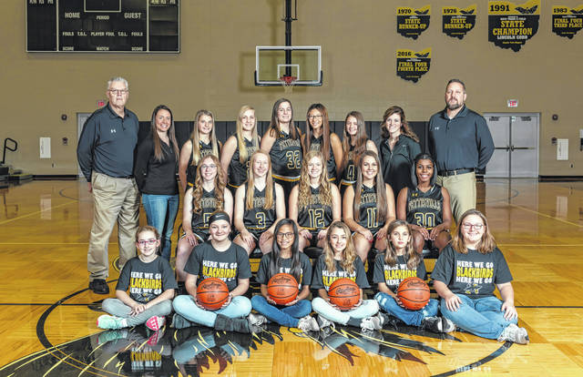 The 2019-20 Pettisville girls basketball team.