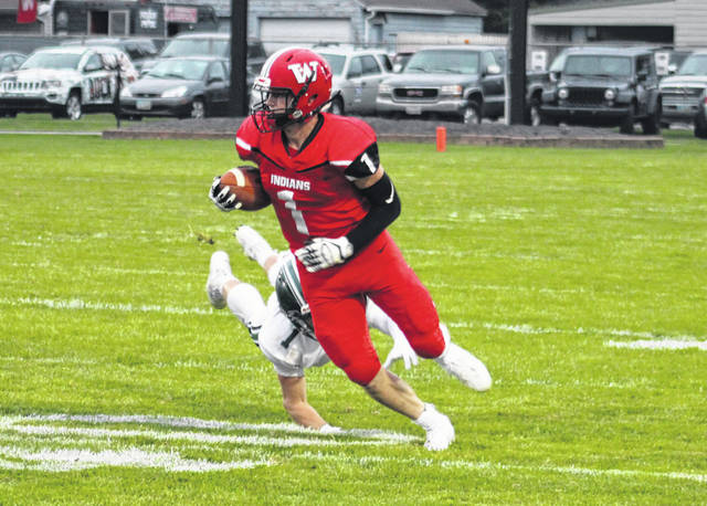 Wauseon's Tyson Britsch runs the ball in a game earlier this season. The Indians will host Bellevue this Saturday in the Division IV, Region 14 quarterfinal.