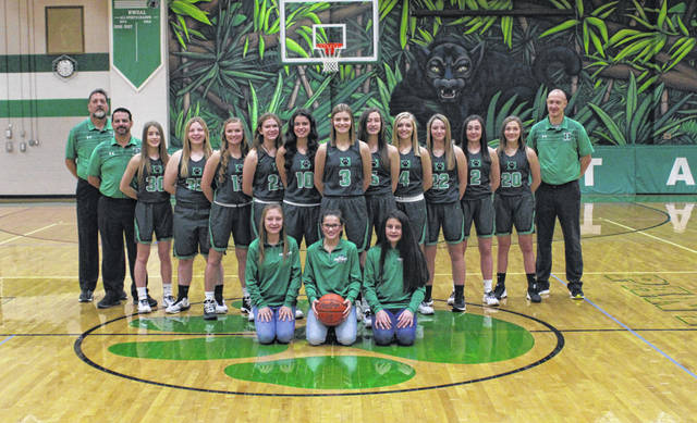 The 2019-20 Delta girls basketball team.