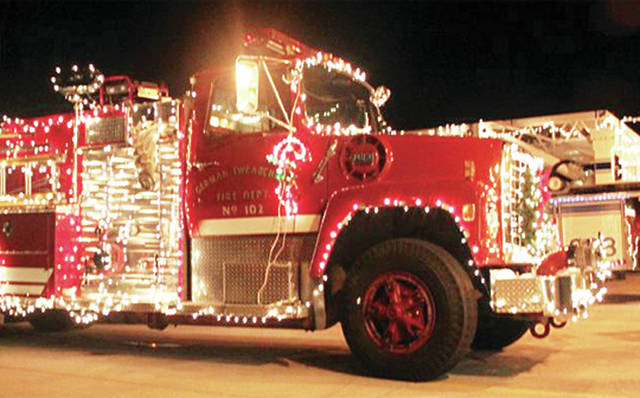 An Archbold Fire Department truck was ablaze with lights during a 2018 Christmas parade.