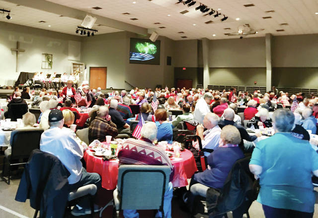 Over 300 people attended a free breakfast held Nov. 8 by the Fulton County Senior Center at Pettisville Missionary Church to honor local military veterans.