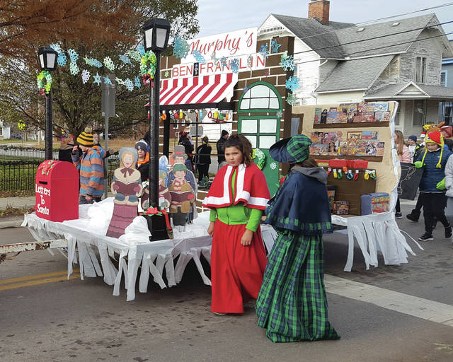 Swanton Middle School's float in the Christmas in Swanton parade was a re-creation of Murphy's Ben Franklin, a longtime Swanton store.