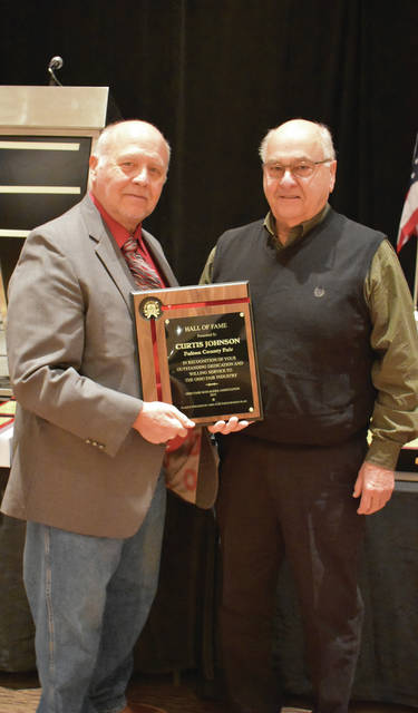 Curtis Johnson of Fayette was recently inducted into the Ohio Fairs Hall of Fame.