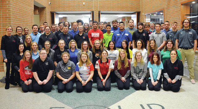 Four County Career Center in Archbold recently celebrated Winter Sports Spirit Day. Sixty student athletes and cheerleaders from all 22 associate schools were recognized.