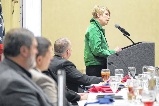 Ohio Director of Agriculture Dorothy Pelanda speaks during the TMACOG General Assembly meeting in Perrysburg.