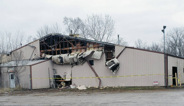 Arson is suspected after a fire in a structure behind Los Mariachis restaurant on N. Shoop Avenue in Wauseon.
