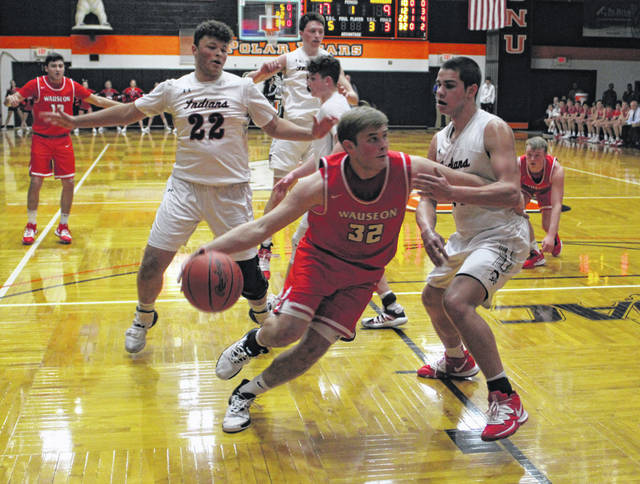 Sean Brock drives inside for Wauseon in a Division II district semifinal versus Lima Shawnee at Ohio Northern Wednesday night. Wauseon fell to the No. 1 team in the state by a 69-54 final.