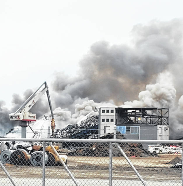 A fire was reported Monday at MetalX in Delta.