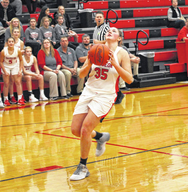 Sydney Zirkle of Wauseon goes up for a layup during a game this season. She made the all-district third team in Division II.