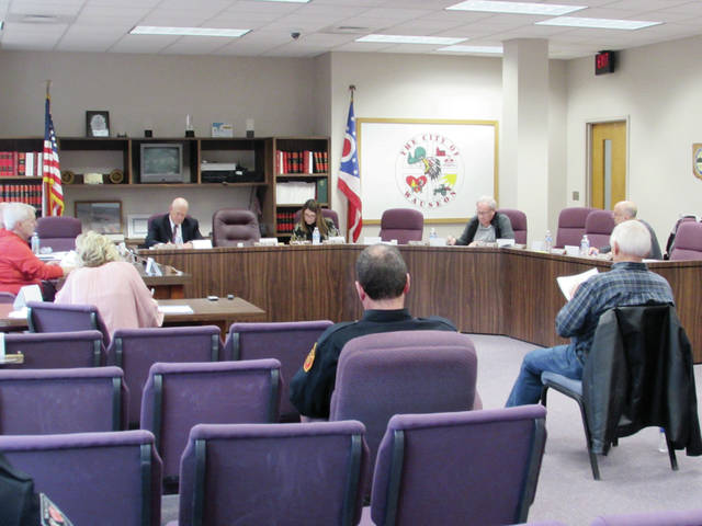 Wauseon City Council members and meeting attendees on Monday followed the state's suggestion of maintaining six feet between each other during the coronavirus emergency.
