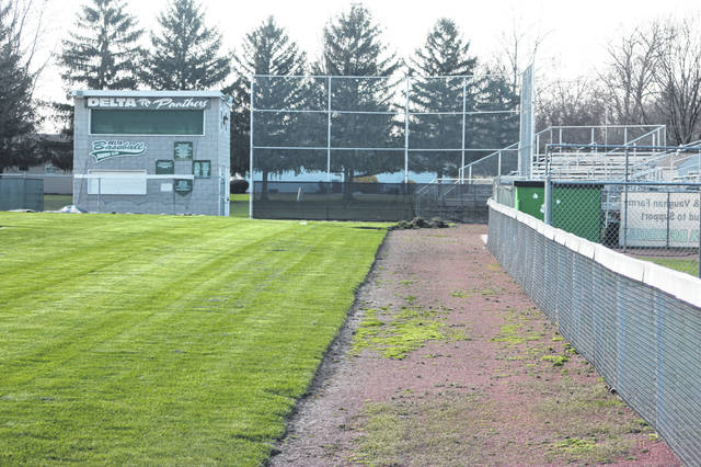 With school closed, the baseball field at Delta High School is empty, but there is still a glimmer of hope spring sports could be played this year.