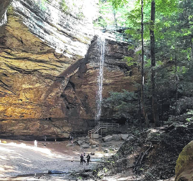 Hocking Hills State Park was closed Friday by the Ohio DNR.
